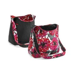 Thirty One Inside Out Bag Reversible Crossbody Bold Bloom #4090