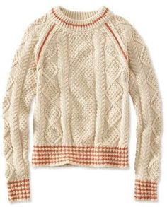 Find the best Signature Cotton Fisherman Sweater, Crewneck Tipped at L. Our high quality Women's Sweaters and Sweatshirts are thoughtfully designed and built to last season after season. Cable Sweater, Cable Knit, Men Sweater, Jumper, Knitwear Fashion, How To Purl Knit, Facon, Knit Patterns, Knit Crochet