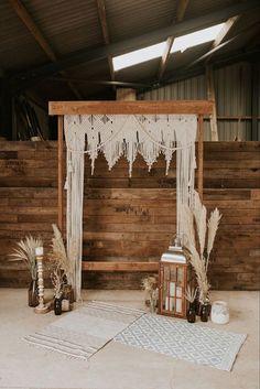 Luxe Wedding, Wedding Shoot, Wedding Aisles, Wedding Ceremonies, Wedding Reception, Macrame Wall Hanging Patterns, Boho Wedding Decorations, Wedding Backdrops, Ceremony Decorations