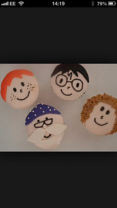 Harry potter cupcake toppers Harry Potter Cupcake Toppers, Harry Potter Cupcakes, Baking, Decor, Decoration, Bakken, Decorating, Backen, Sweets