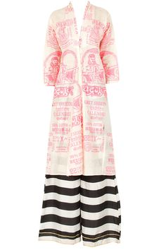 Pink chandragupt kurta with striped palazzos BY MASABA  Shop now at perniaspopupshop.com #perniaspopupshop #clothes #womensfashion #love #indiandesigner  #MASABA #happyshopping #sexy #chic #fabulous #PerniasPopUpShop #quirky #fun