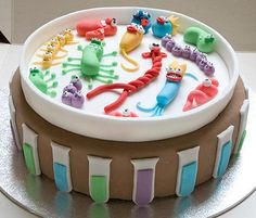 Fun bacteria, a fun science themed cake! By reeds-cakes Science Cake, Science Party, Life Science, Cupcakes, Cake Cookies, Cupcake Cakes, Shoe Cakes, Beautiful Cakes, Amazing Cakes