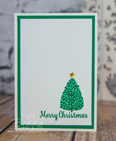 Make In A Moment Monday Christmas Card Featuring the Totally Trees Stamp Set from Stampin' Up! UK