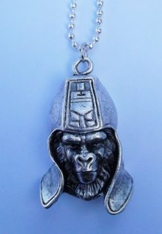 pewter Planet of the Apes General Ursus necklace POTA