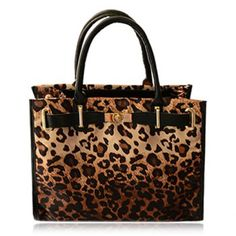 $25.02 Sexy Belt and Leopard Print Design Women's Tote Bag