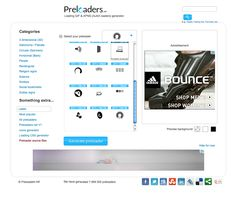 Choose, design your preloader and animate it in seconds!