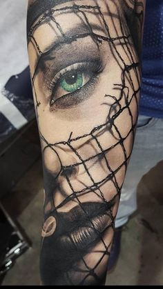 Face fore arm tattoo