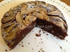 Torta pere e cioccolato alta morbida e soffice | Kikakitchen Raspberry Coffee Cakes, Sweets Recipes, Desserts, Buffet, Oven, Food And Drink, Breakfast, Pucci, Nutella