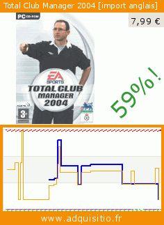 Total Club Manager 2004 [import anglais] (Jeu vidéo). Réduction de 59%! Prix actuel 7,99 €, l'ancien prix était de 19,34 €. https://www.adquisitio.fr/electronic-arts/total-club-manager-2004