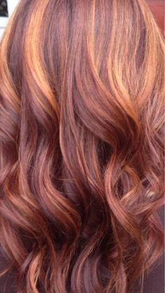 red copper highlights hair - Google Search