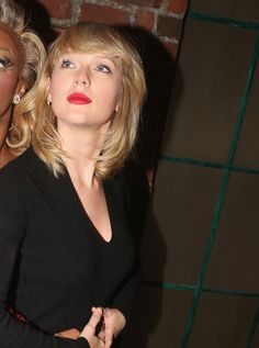 Taylor backstage at the musical 'Kinky Boots' on Broadway on November 23, 2016 in New York City.
