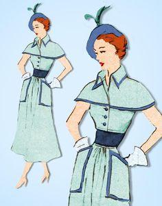 1950s Rare Uncut Vintage Modes Royale Sewing Pattern 679 Misses Dress Sz 35.5 B