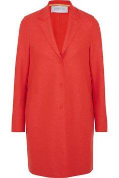 Harris Wharf London - Cocoon Wool-felt Coat - Papaya - IT Victoria Beckham Jeans, Harris Wharf London, Coat Sale, Tabitha Simmons, Ladies Of London, London Fashion, Wool Felt, Luxury Fashion, Tunic Tops