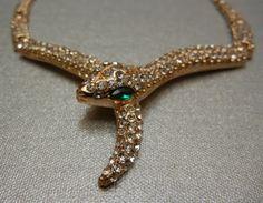 L'oiseau Acessórios Vintage: Colar Serpente Vintage Anos 80