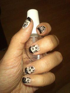francesa con detalles Print Tattoos, Nail Art, Nails, French Nails, Finger Nails, Ongles, Nail, Nail Arts, Art Nails