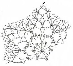 Crochet a little Crochet Snowflake Pattern, Crochet Motif Patterns, Crochet Snowflakes, Crochet Mandala, Crochet Diagram, Crochet Chart, Crochet Doilies, Knitting Patterns Free, Crochet Flowers