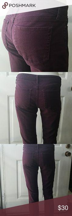 Gap Premium Skinny Jeans Deep purple color, 28 in inseam. Super cute GAP Jeans Skinny