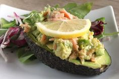 Salmon and Cucumber Stuffed Avocado