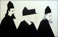Hendrik Valk (1897-1986). Russisch-Orthodoxe priesters, 1961
