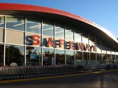 Older Safeway Store with curved roof