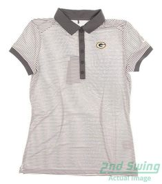 Ad(eBay) New W/ Green Bay Packers Logo Womens Nike Golf Polo Small S Gray MSRP $80