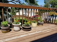 My sweet husband potted herbs and flowers for my little deck refuge because he knew I wasn't able to get to it myself.  #herohusband  #GodisGood