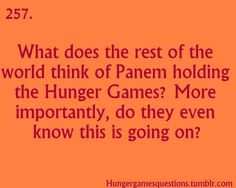 Hunger Games Questions....so true!