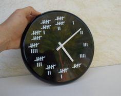 Wall clock, retro black wall clock, funny wall clock, office decor, retro style, vintage wall clock, decor, home decor, gift, gift idea,