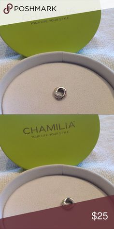 Chamilia Retired Regale Chianti Bead Chamilia Retired Regale Silver & Crystal Chianti Bead. Sterling Silver. Swarovski Crystals. New. Never worn. Will work with Pandora Bracelet. Chamilia Jewelry Bracelets