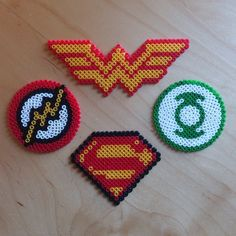 DC Comics logos hama beads by jonitoledo