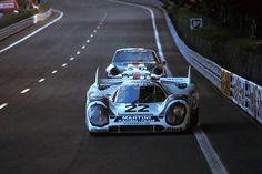 Winner of the Le Mans 24hrs 1971: Helmut Marko (A) and Gijs van Lennep (NL) on Porsche 917K #053 entered by Martini International Racing Team, (enlarge/ampliar). Schlegelmilch Photography.- — con Len Lichter