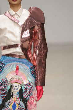 I have seen the One Shoulder Armor Thing done well. This is not it. [Manish Arora]