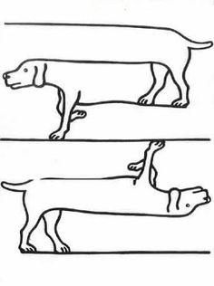 O breve verbO: Animais ilusórios cachorro é um desenho de Shigeo Fukuda.