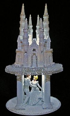 LIGHTED CINDERELLA PRINCE CASTLE WEDDING CAKE TOPPER Re-pin by  #weddingdj #michaelberrios #trending #michaelEricBerrios #Mbeventdjs #KeyWestWedding #DestinationWedding #keywestdj #DJ-mike-berrios #DJmichaelberrios #Destinationwedding