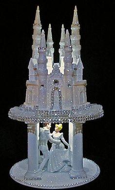 LIGHTED CINDERELLA PRINCE CASTLE WEDDING CAKE TOPPER Re-pin by  #weddingdj #michaelberrios #trending #michaelEricBerrios #Mbeventdjs #KeyWestWedding #DestinationWedding #keywestdj #DJ-mike-berrios #DJmichaelberrios #Destinationwedding