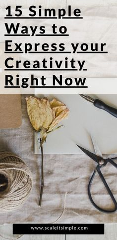 You don't need to be an artist or even have a lot of time on your hands to start to express your unique creativity right now. Fiction Writing Prompts, Blog Writing, Simple Living Blog, Simple Blog, Best Blogs, Right Now, How To Better Yourself, Blog Tips, Simple Way