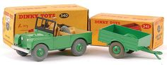 Land Rover and trailer - Spielzeug Retro Toys, Vintage Toys, Land Rover Models, Corgi Toys, Matchbox Cars, Automobile, Toy R, Hot Wheels Cars, Tin Toys