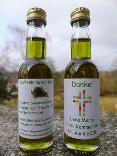 Gastgeschenk Öl 40ml TAUFE KOMMUNION von Frisches vom Bauernhof auf DaWanda.com