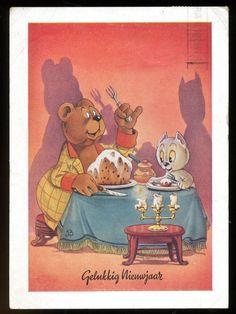 Tom Poes & Heer Bommel - Nieuwjaarskaart - De Muinck & Co (1948) - Catawiki