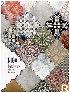 RIGA PATCHWORK design by Realonda · 45x45cm · Stoneware #Realonda #ceramica #madeinspain #tileofspain #details #ceramics #tiles #design #innovations #ilovetiles #ihavethisthingwithtiles