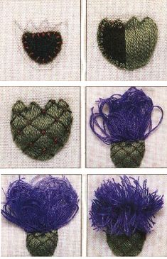 Instructions on how to do stumpwork embroidery