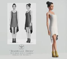 Deuxmille dress by Sentate - Sims 3 Downloads CC Caboodle