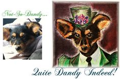Customized Dandy Portrait of your pet or by DandyPetPortraits, $250.00  ***Created by my talented daughter-in-law, Kate!