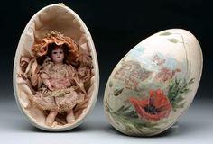 Vintage Easter egg doll