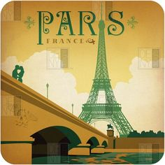 Paris | Visit France | Poster Design | Artist Illustration | City Travel | Art