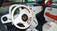 Fiat 500e -  interior of the Fiat 500 electric car at the LA auto show