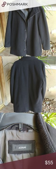 Alfani Mens Wool Blend Coat Mens Wool Blend Oversized Coat. Zippered and button down. Alfani Jackets & Coats