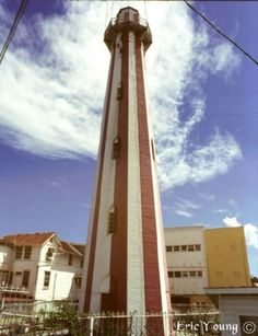 The Georgetown Lighthouse was first built by the Dutch in 1817 and then rebuilt in 1830 to help guide ships into the Demerara River from the Atlantic Ocean. The 103 ft. high octagonal structure is a famous Georgetown, Guyana, landmark with its distinct vertical red and white stripes. The Lighthouse, located on Water Street, is a National Monument.