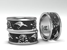 Bass ring with Custom bait. Made of stainless Steel, by Hunters For Hunters!
