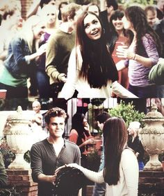 #TVD The Vampire Diaries  Elena & Stefan, this part was the best.. :3